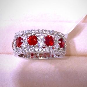 Jewelry - Ring:🔥2/$40 Simulated Ruby and Diamond  Ring